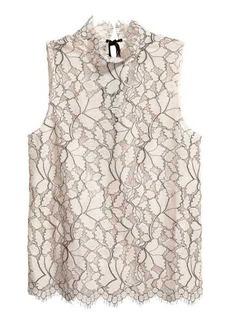 H&M Sleeveless Lace Blouse