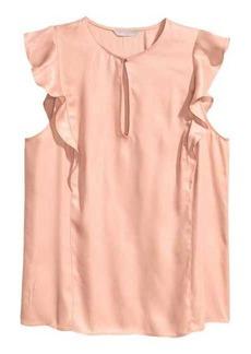 H&M Sleeveless Ruffled Blouse