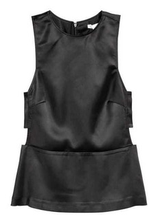 H&M Sleeveless Satin Blouse