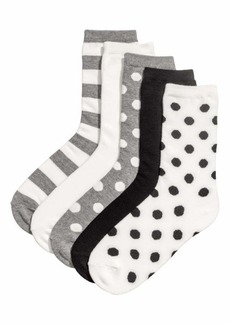 H&M H & M - 5-pack Socks - Black/patterned - Women