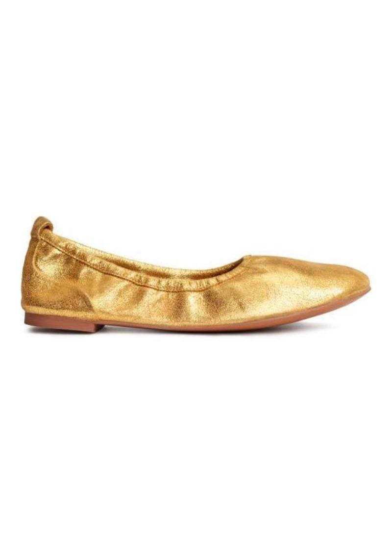 bef125cf5ce3 H M H   M - Soft Ballet Flats - Gold-colored - Women