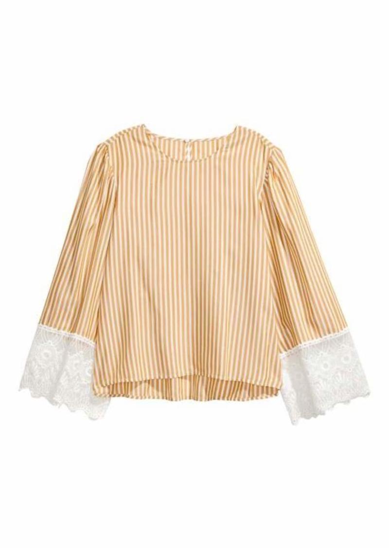 4cfff487920c H M H   M - Striped Blouse - Mustard yellow white striped - Women ...