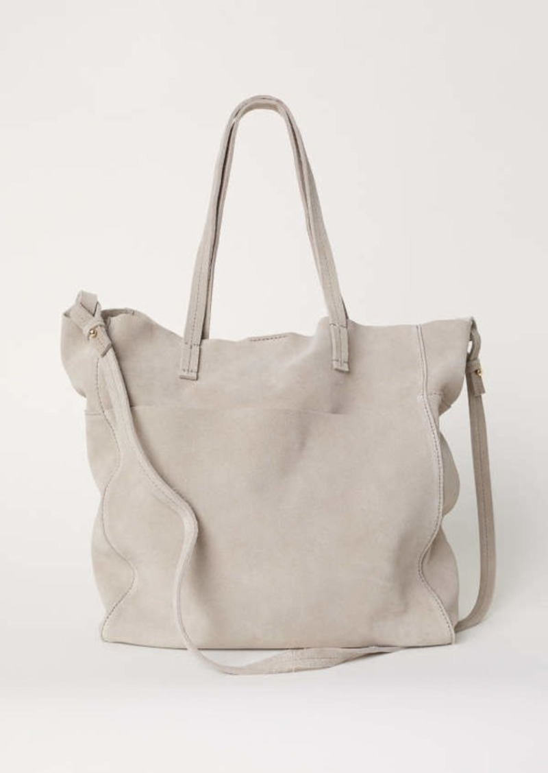 H M Suede Bag Taupe Women