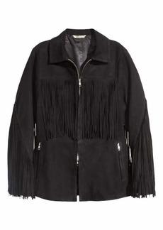 H&M Suede Jacket with Fringe