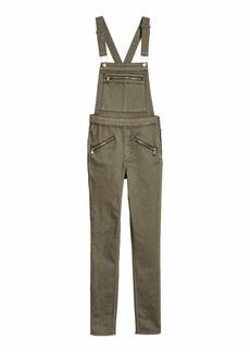 H&M H & M - Twill Bib Overalls - Khaki green - Women
