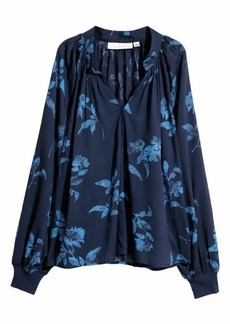 H&M H & M - V-neck Blouse - Dark blue/floral - Women