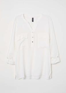H&M H & M - V-neck Blouse - White - Women