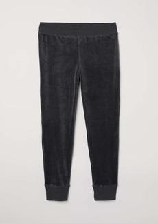 H&M H & M - H & M+ Velour Joggers - Dark gray - Women