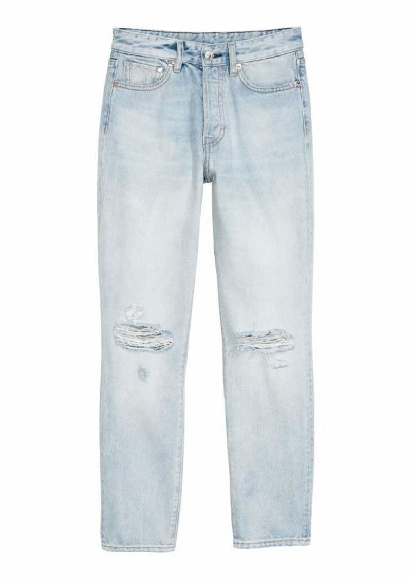 31e51a40c9f2b H&M H & M - Mom Jeans - Denim blue/Trashed - Women