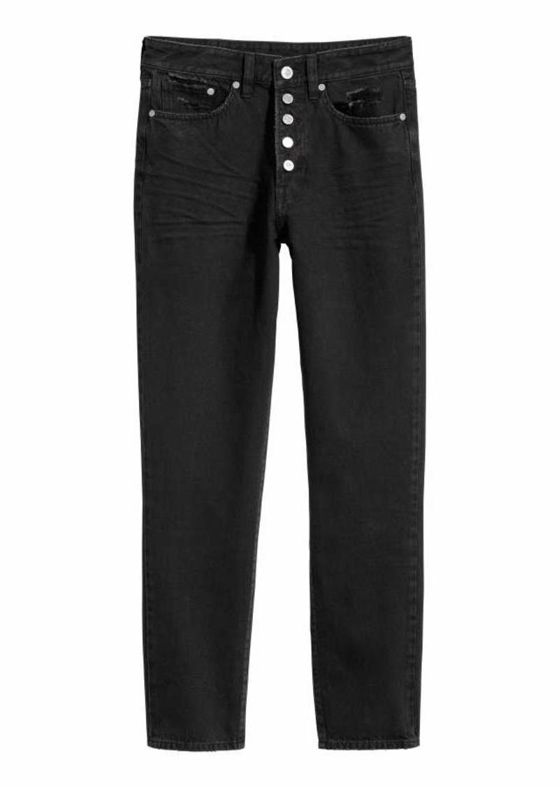 modern design offer terrific value H & M - Vintage High Ankle Jeans - Black denim - Women