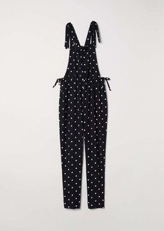 H&M H & M - Viscose Bib Overalls - Black/dotted - Women