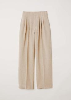 H&M Wide-cut Linen Pants