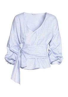 H&M Wrapover Cotton Blouse