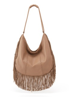Hobo International Hobo Gypsy Fringe Calfskin Leather Hobo
