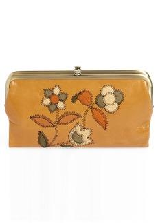 Hobo International Hobo Lauren Continental Flower Stitch Leather Wallet