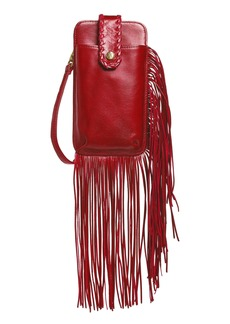 Hobo International Hobo Plume Fringe Calfskin Leather Smartphone Wristlet