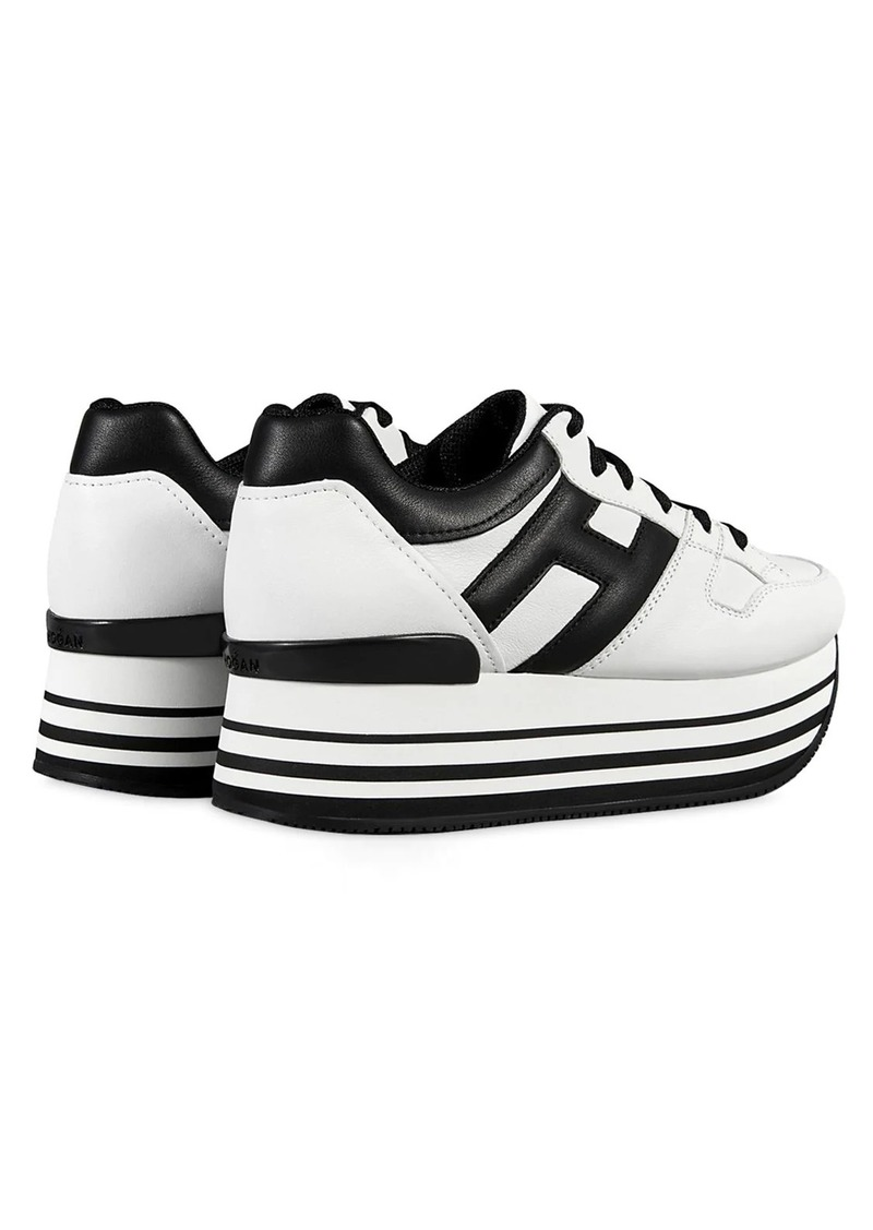Hogan 70mm Maxi 222 Leather Sneakers | Shoes