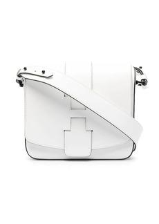 Hogan embossed-logo leather shoulder bag