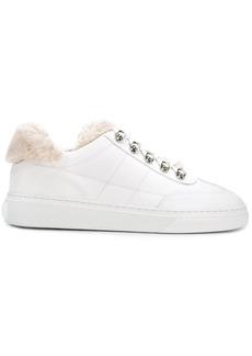 Hogan faux fur trim sneakers