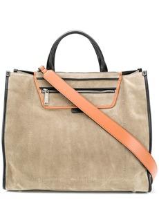 Hogan large leather tote bag