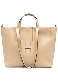 Hogan leather shopping tote