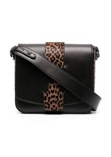 Hogan leopard-panel shoulder bag