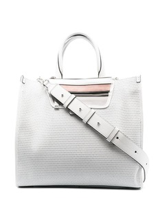 Hogan medium woven leather shopping bag