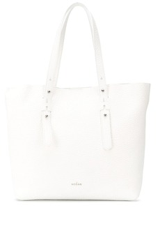 Hogan pebbled leather shopping tote