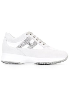 Hogan studded logo lace up trainers