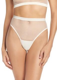 Honeydew High Waist Fishnet Panties
