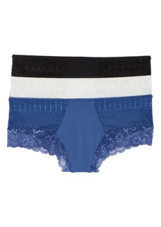 Honeydew Intimates 3-Pack Lace Trim Hipster Panties