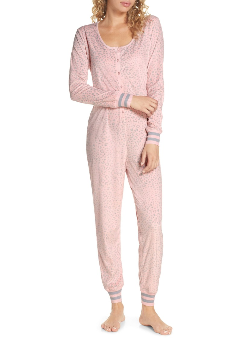 Honeydew Intimates Cocoa Cozy Henley Jumpsuit
