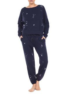 Honeydew Over The Moon Heart Embroidered Sweatshirt