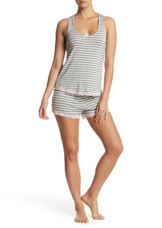 Honeydew Striped Tank & Shorts Pajama 2-Piece Set