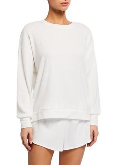 Honeydew Sleep Queen Ribbed Knit Sweatshirt