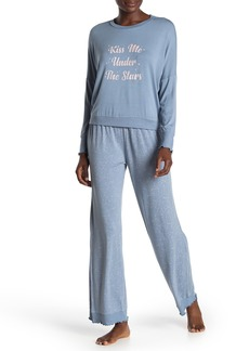 Honeydew Wonder Love Top & Constellation Pants Pajama 2-Piece Set
