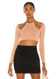 h:ours Caelie Cutout Halter Top