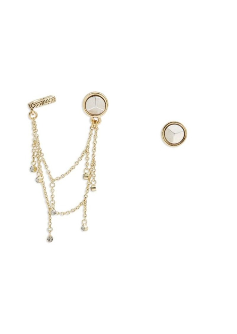 1960 Cuff Accented Stud Earrings