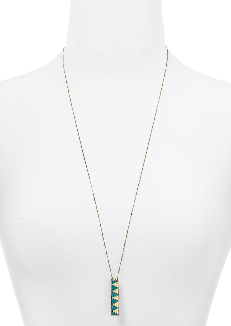 "House of Harlow 1960 Peak Pendant Necklace, 29"""
