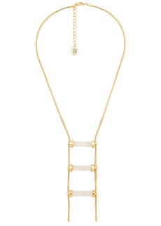 House of Harlow 1960 Triple Crystal Necklace