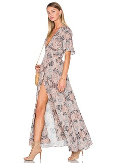 House of Harlow 1960 x REVOLVE Blaire Wrap Maxi in Taupe. - size S (also in XL, XS)