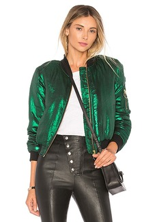 House of Harlow 1960 x REVOLVE Bryce Bomber in Green. - size S (also in XXS, XS,M,L,XL)