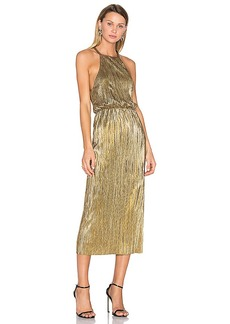 House of Harlow 1960 x REVOLVE Farrah Dress in Metallic Gold. - size XS (also in S,XL)