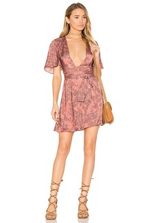 House of Harlow 1960 x REVOLVE Harper Wrap Dress in Pink. - size L (also in M,S,XS)