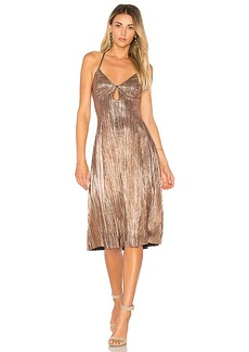 House of Harlow 1960 x REVOLVE Heidi Dress in Metallic Gold. - size S (also in XS,M)