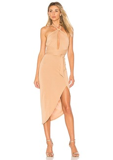 House of Harlow 1960 x REVOLVE Loretta Dress in Tan. - size L (also in XXS, XS,S,M)