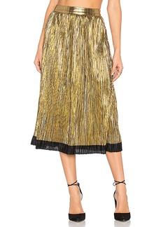House of Harlow 1960 x REVOLVE Luna Midi Skirt in Metallic Gold. - size L (also in S)