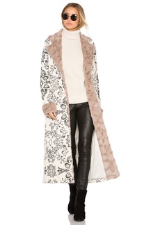 House of Harlow x REVOLVE Margeaux Coat with Faux Fur