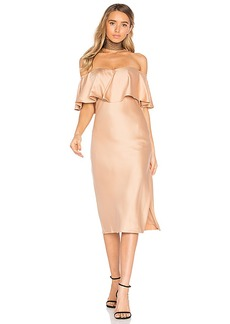 House of Harlow 1960 x REVOLVE Newton Dress in Brown. - size M (also in S,XS)