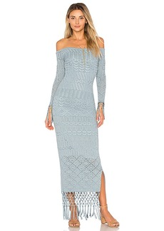 House of Harlow 1960 x REVOLVE Rose Dress in Blue. - size L (also in M,S,XL, XS)